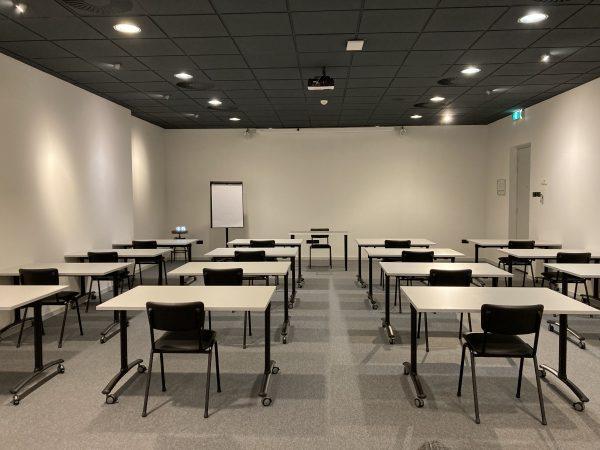 Class set-up at The Spot